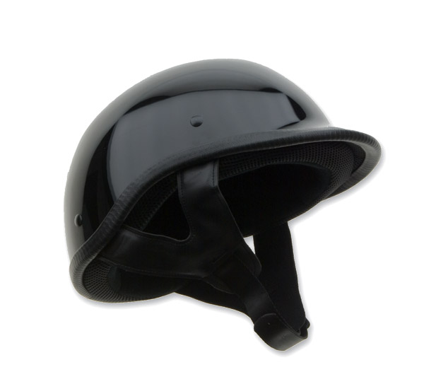 HCI-105 Designer Polo Gloss Black Half Helmet