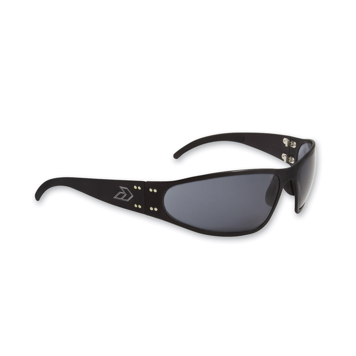 Gatorz Wraptor Black Frame with Gray Polarized Lens Sunglasses