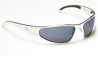 Gatorz Wraptor Polished Frame with Gray Polarized Lens Sunglasses
