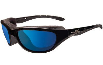 Wiley X AirRage Sunglasses with Polarized Blue Mirror Lens