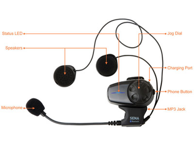 Sena Technologies SMH10-01 Bluetooth Headset/Intercom