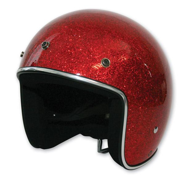 HCI-10 Glitter Red Open Face Helmet