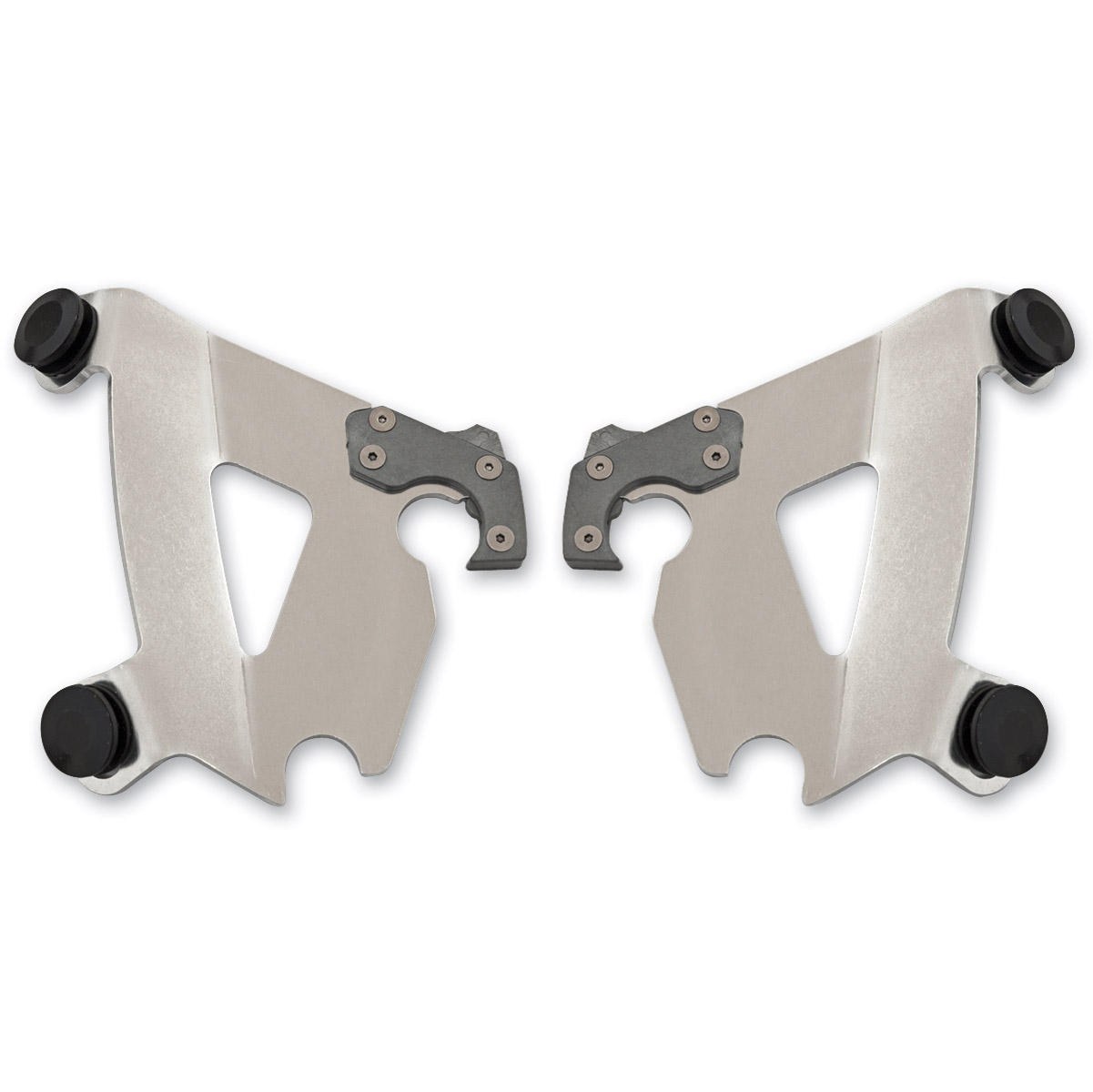 Memphis Shades Cafe Fairing Polished Mounting Plates Only