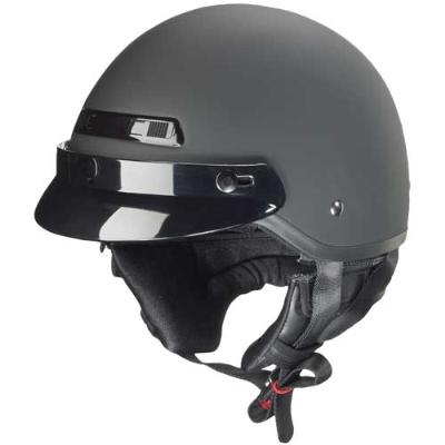 Zox Banos Matte Black Half Helmet