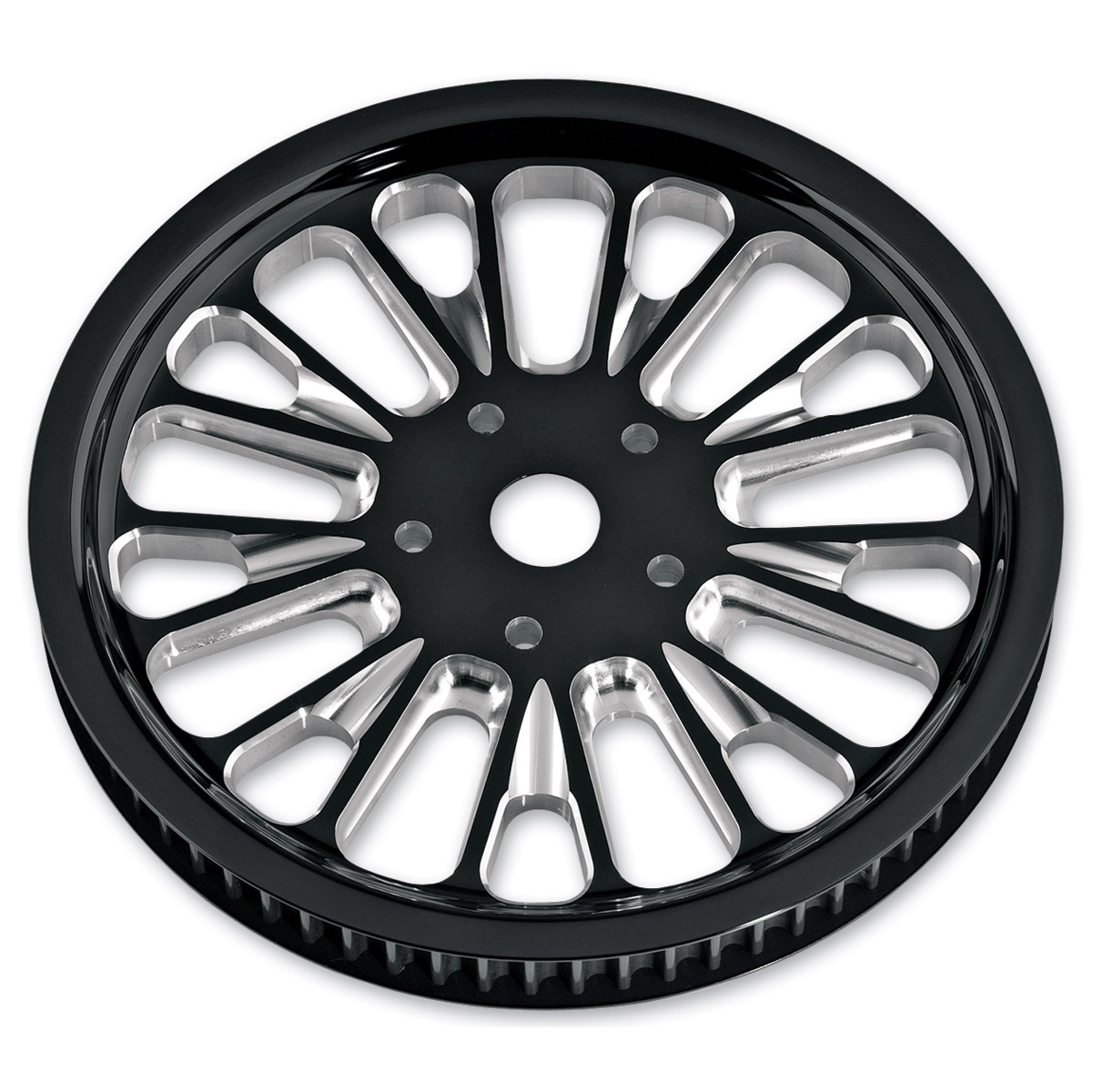 Roland Sands Design Domino Contrast Cut 66T Forged Aluminum Pulley