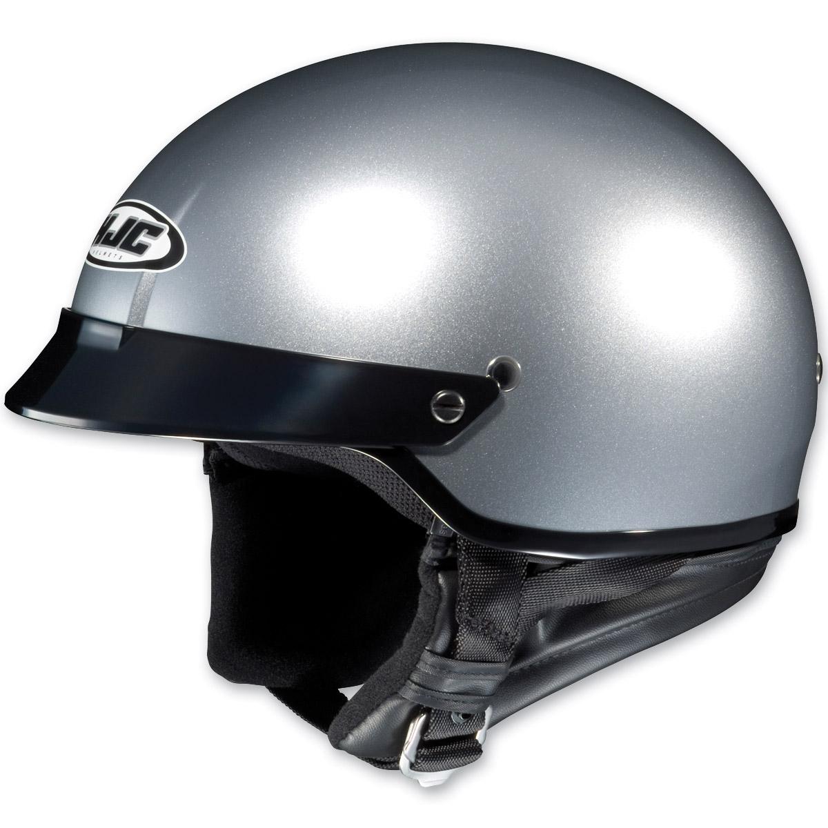 HJC CS-2N Metallic Silver Half Helmet