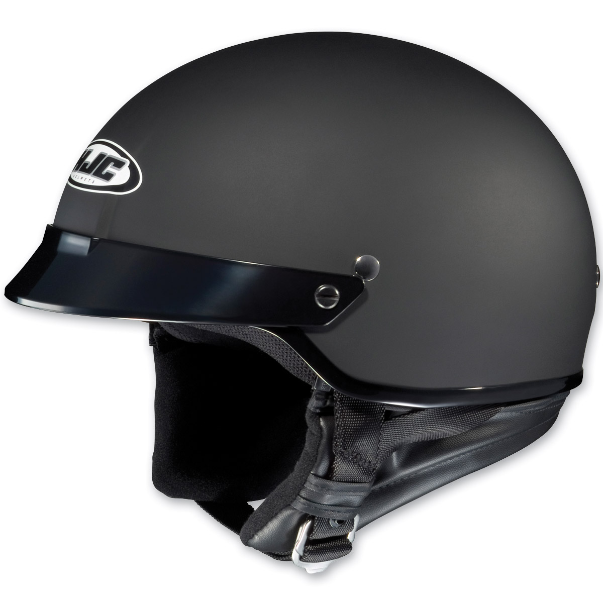HJC CS-2N Flat Black Half Helmet