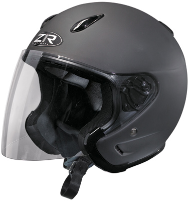 Z1R Ace Rubatone Black Open Face Helmet
