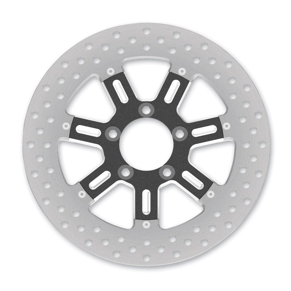 Roland Sands Design Del Mar Contrast Cut Ops Two-Piece Front Brake Rotor, 11.5