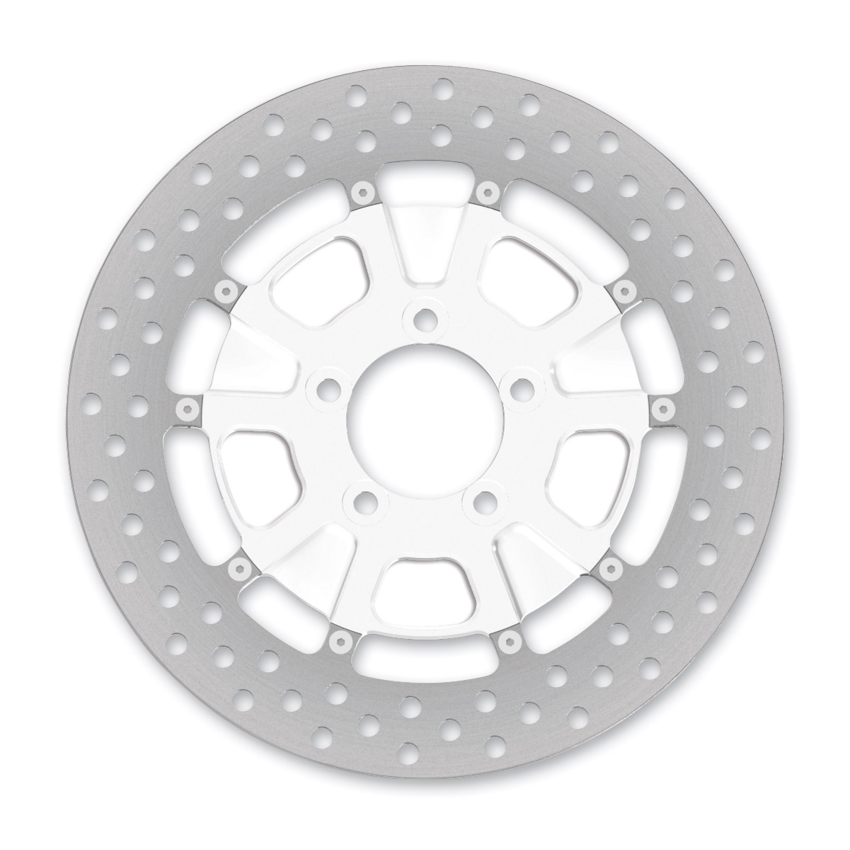 Roland Sands Design Raid Chrome Two-Piece Front Brake Rotor, 11.5