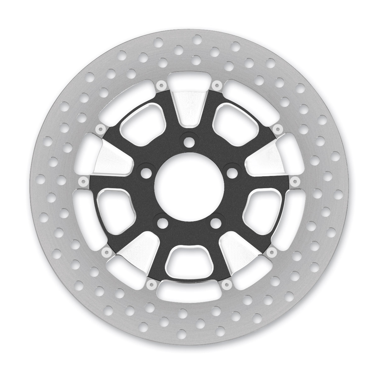 Roland Sands Design Raid Contrast Cut Ops Two-Piece Front Brake Rotor, 11.5