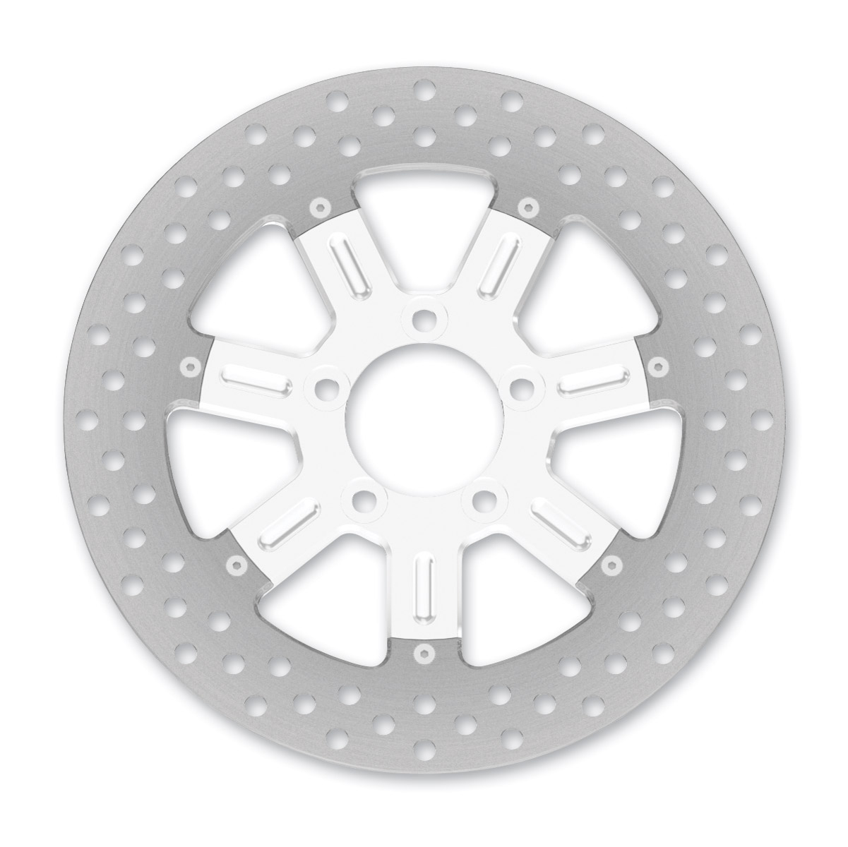 Roland Sands Design Del Mar Chrome Two-Piece Rear Brake Rotor, 11.5