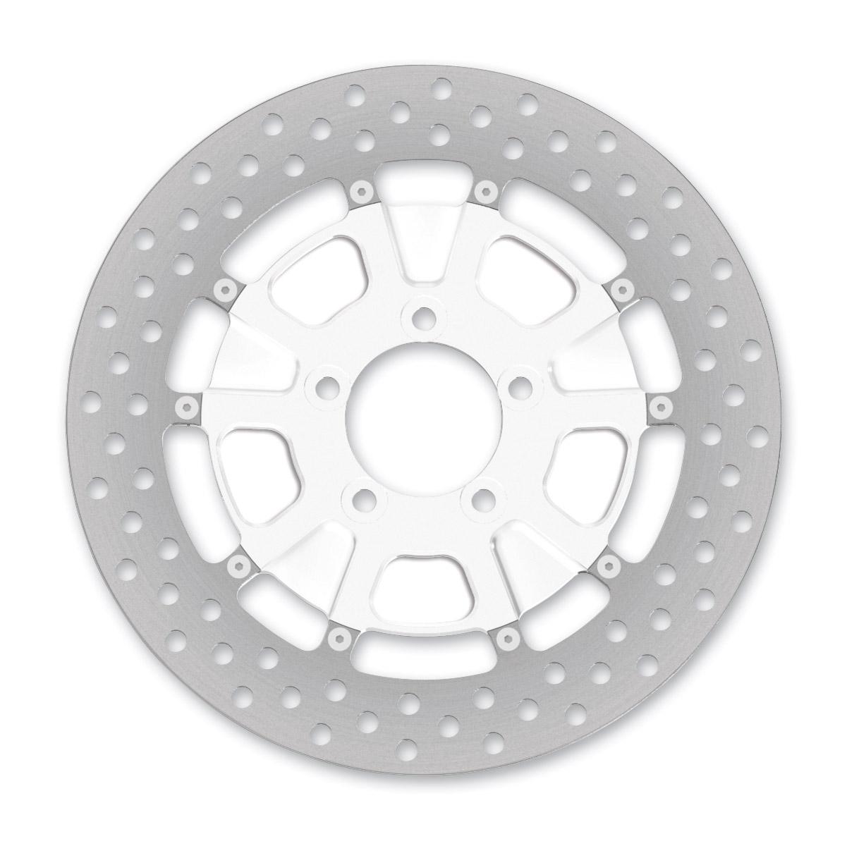 Roland Sands Design Raid Chrome Two-Piece Rear Brake Rotor, 11.5