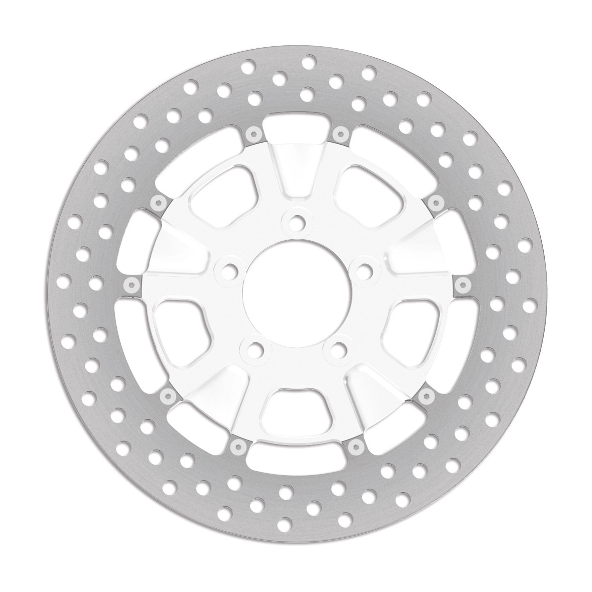 Roland Sands Design Raid Chrome Two-Piece Front Brake Rotor, 11.8