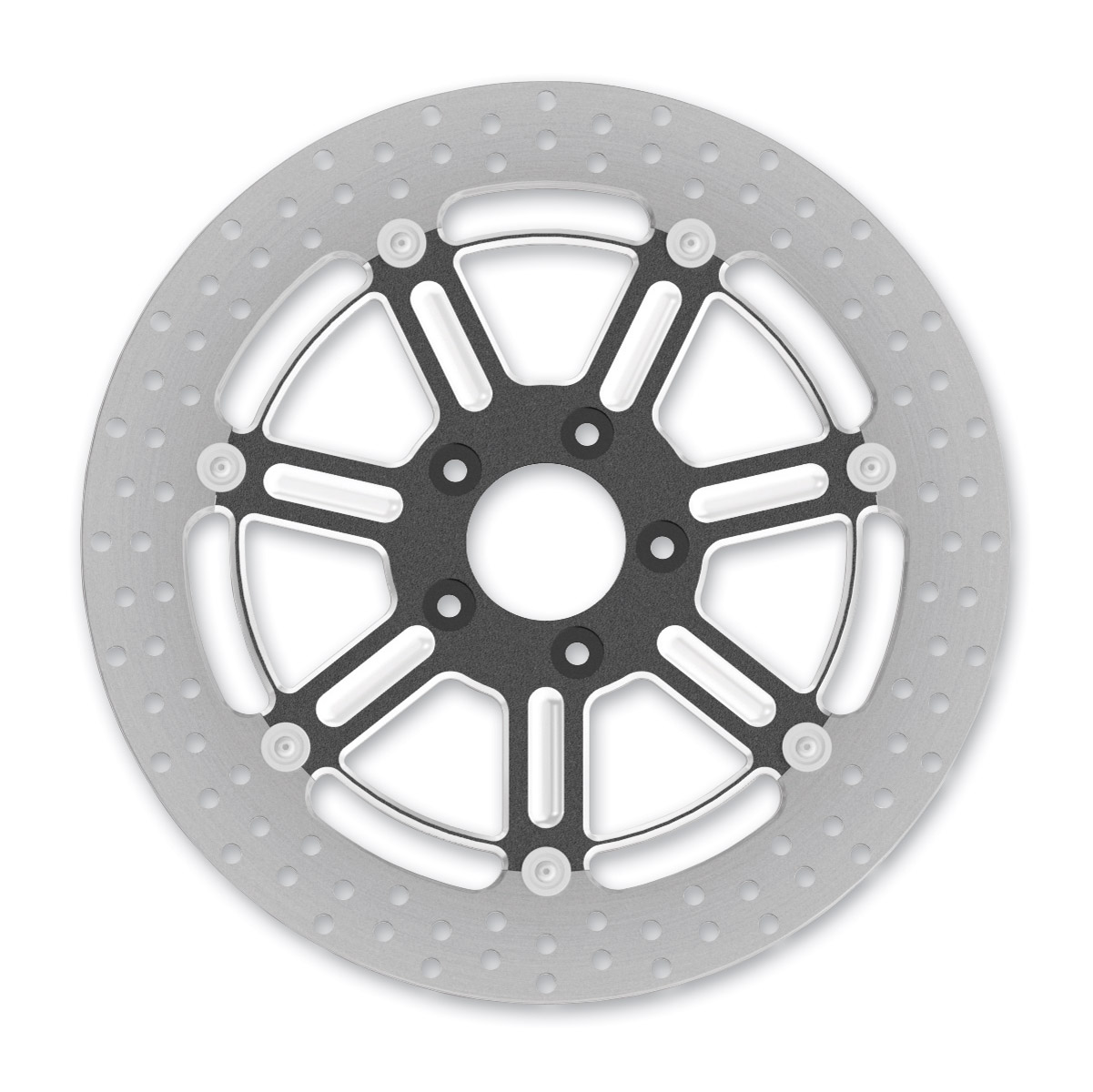 Roland Sands Design Raid Contrast Cut Ops Two-Piece Front Brake Rotor, 13