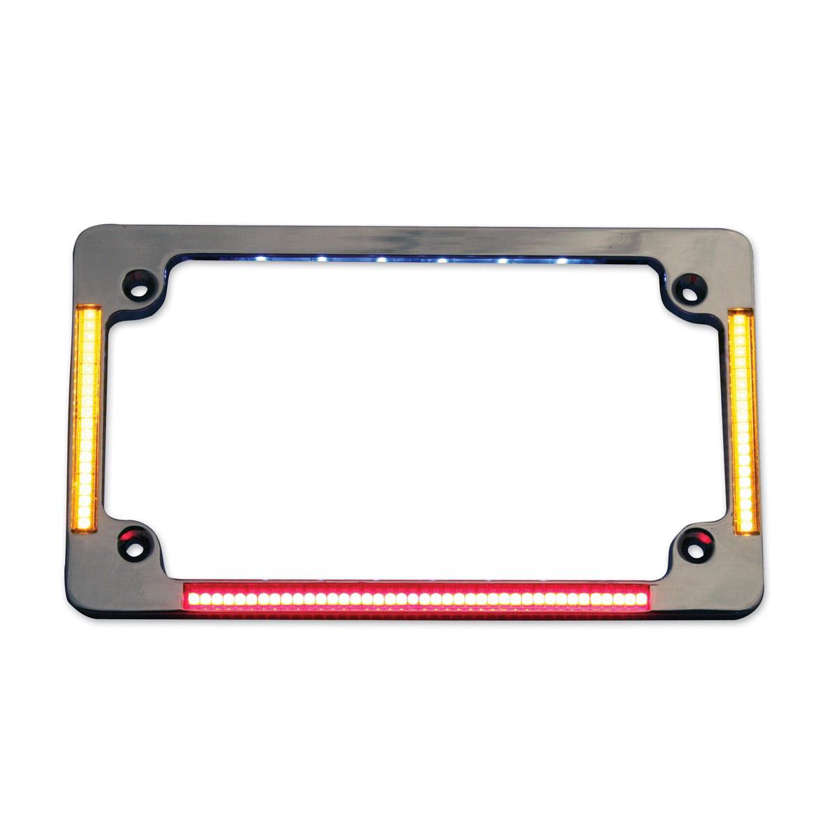 Custom Dynamics Chrome All-In-One Flat License Plate