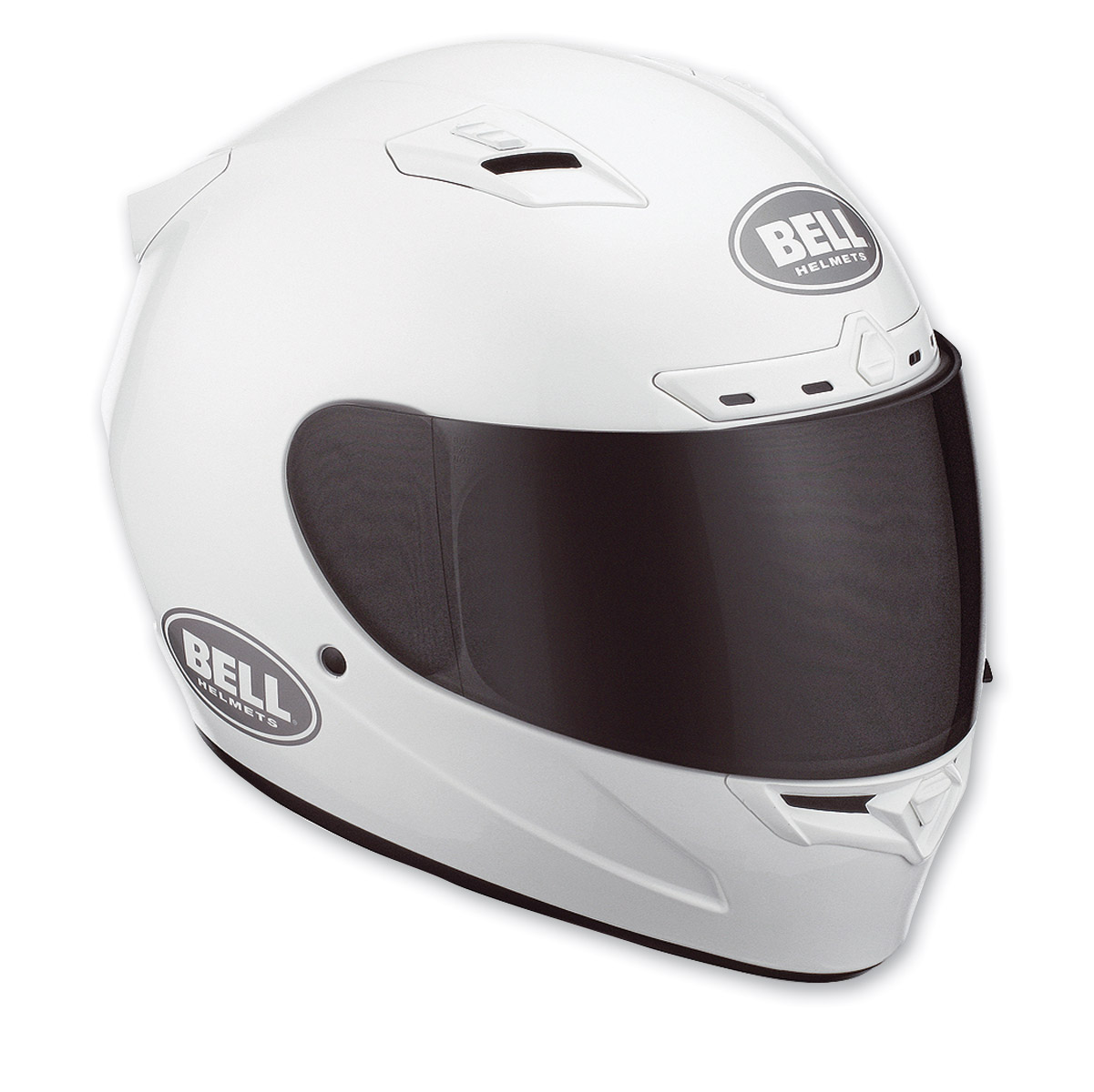 Bell Vortex Solid White Full Face with Face Shield Helmet