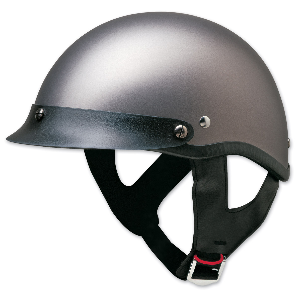 HCI-100 Designer Matte Deep Silver Half Helmet