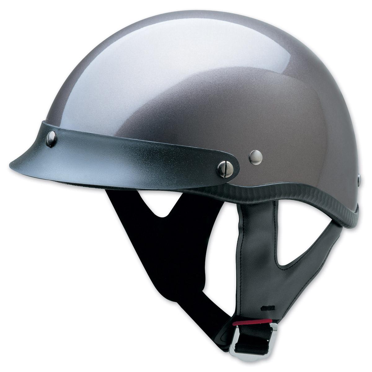 HCI-100 Designer Gloss Deep Silver Half Helmet