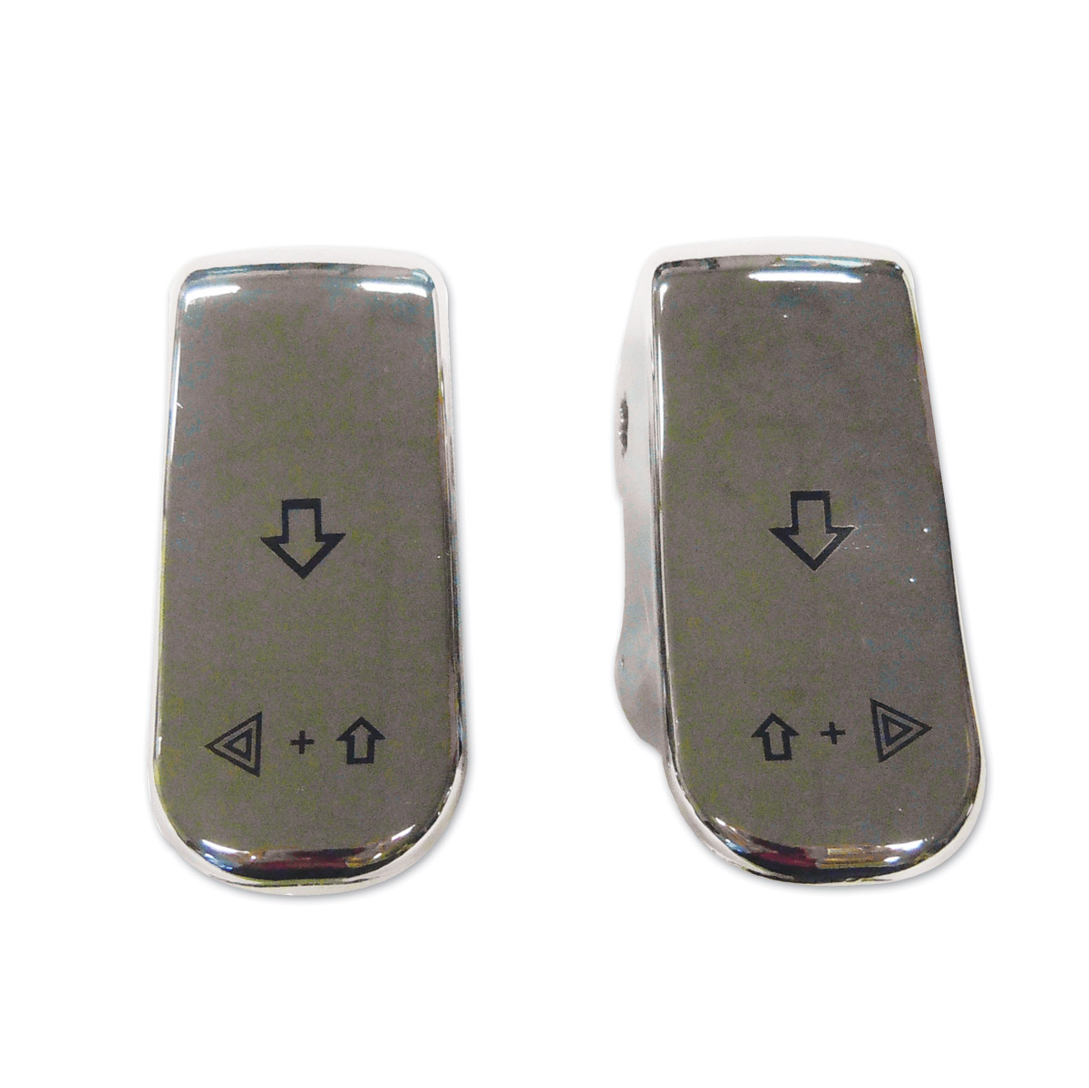 Bagger-Werx Chrome Turn Signal Switch Extension Caps