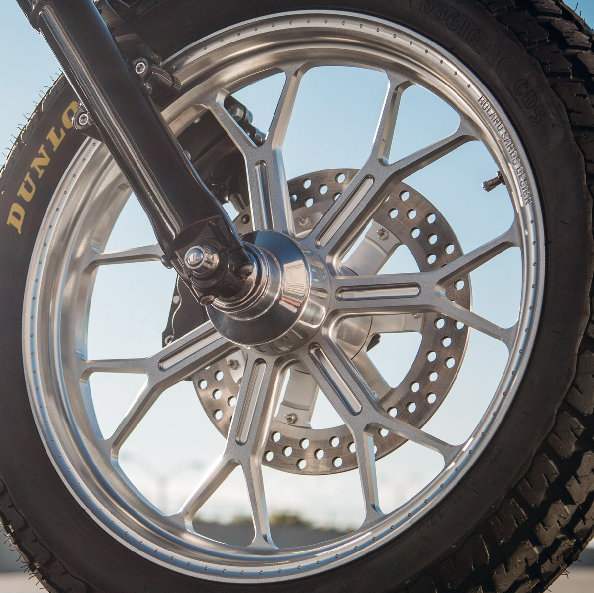 Roland Sands Design Del Mar Machine Ops Rear Wheel, 16