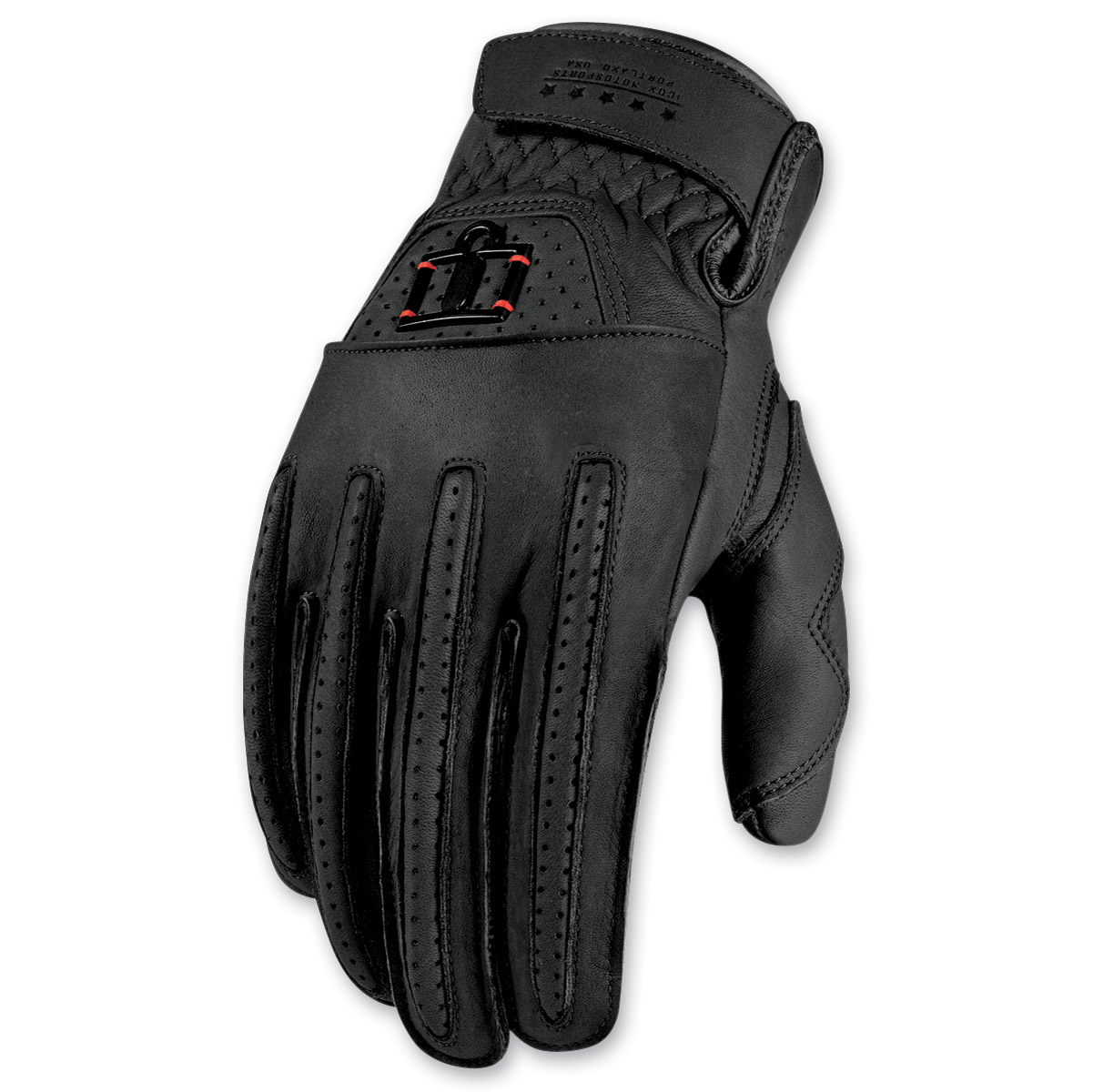 ICON Men's 1000 Rimfire Black Gloves
