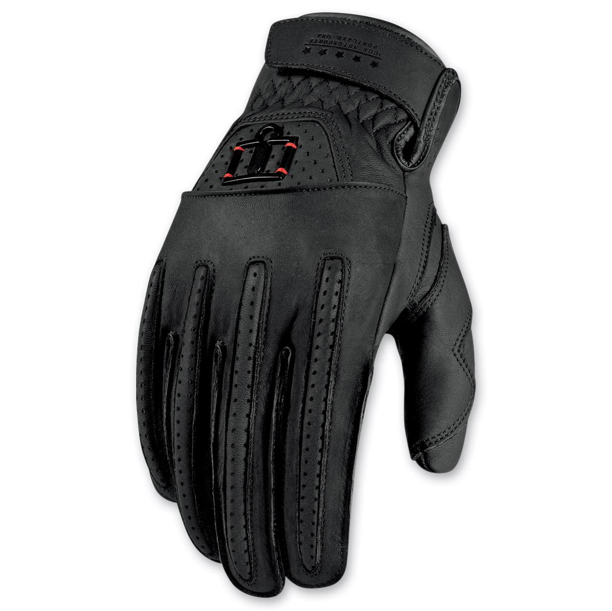 ICON Men's 1000 Rimfire Black Gloves