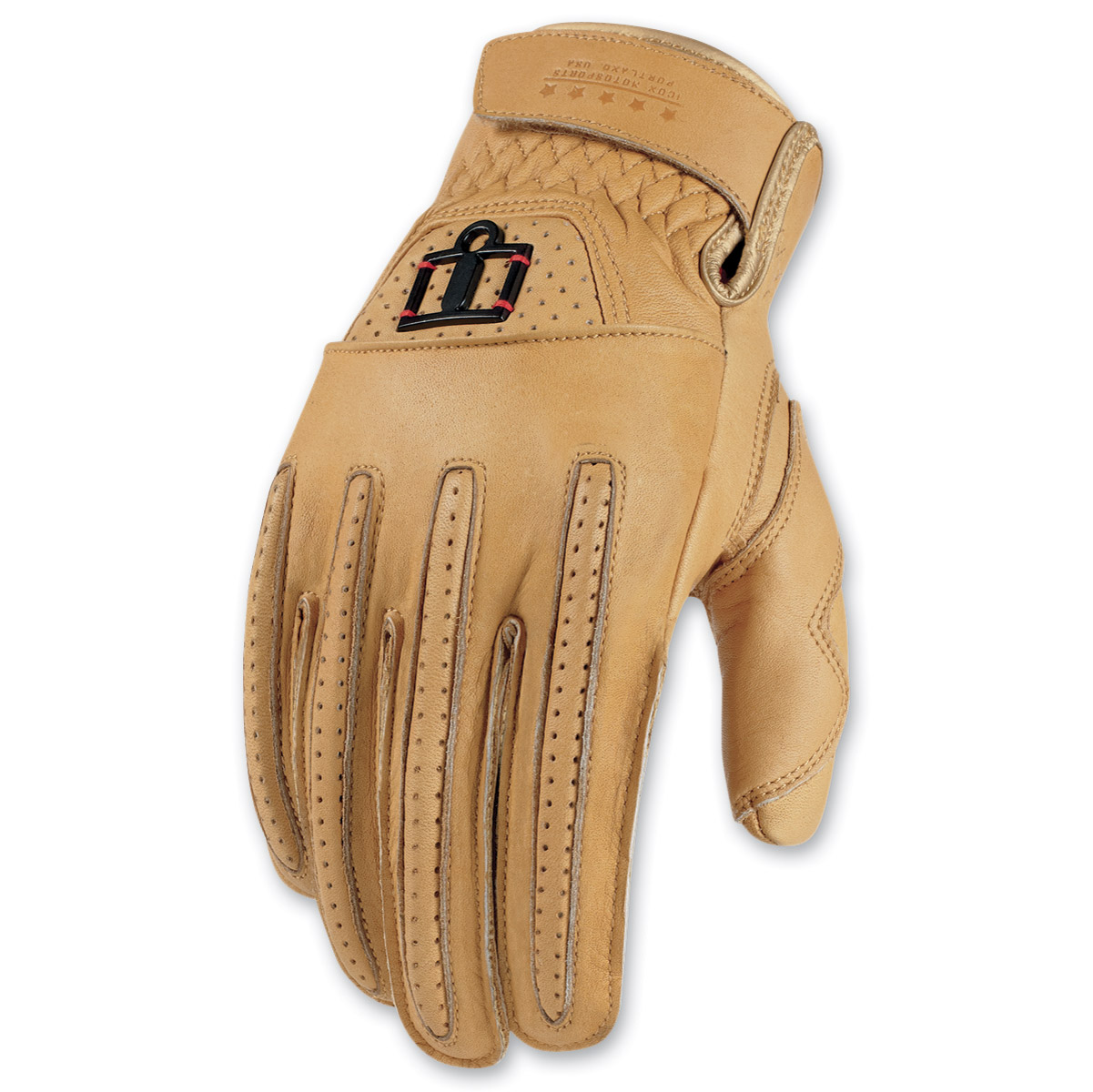 ICON Men's 1000 Rimfire Tan Gloves