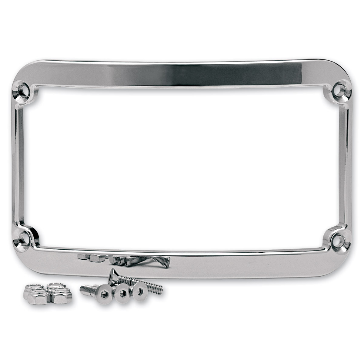 Klock Werks Chrome License Plate Frame