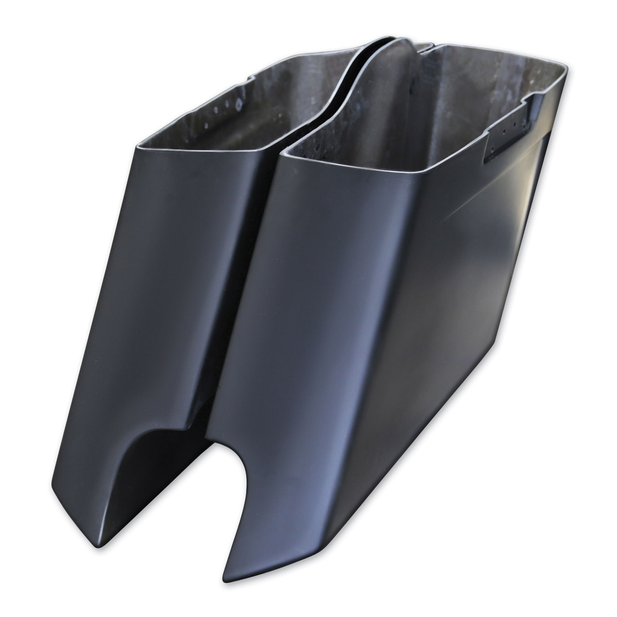 Arlen Ness Down-N-Out Stretched Saddlebags Dual Exhaust Kit