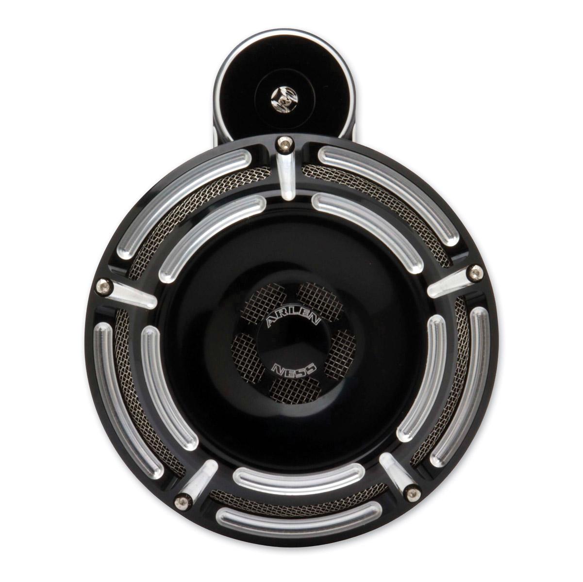Arlen Ness Slot Track Black Universal Horn Kit