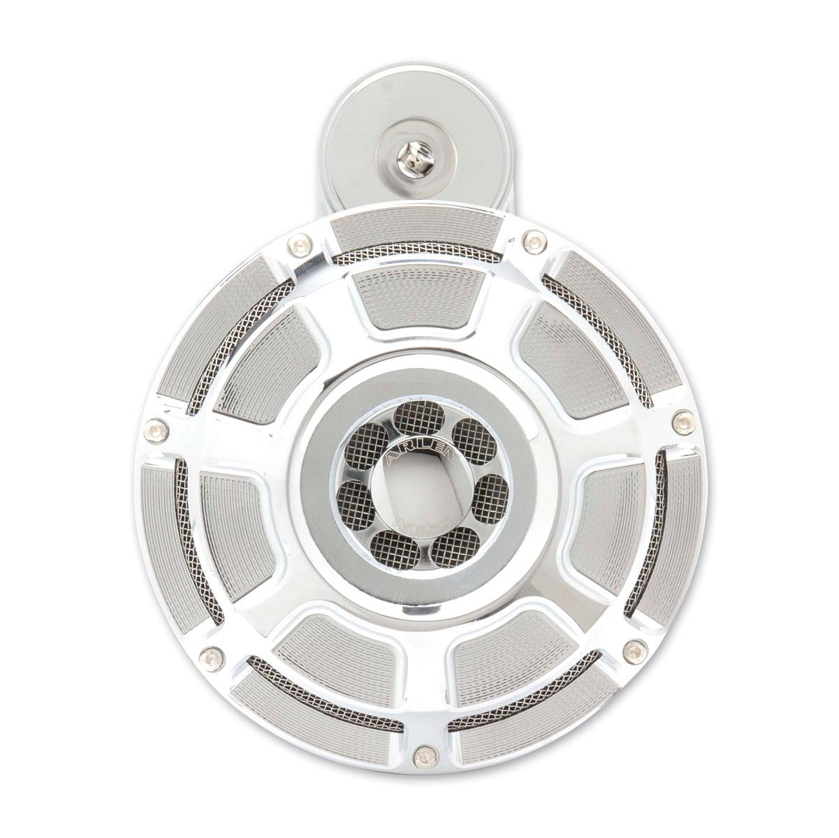 Arlen Ness Beveled Chrome Universal Horn Kit
