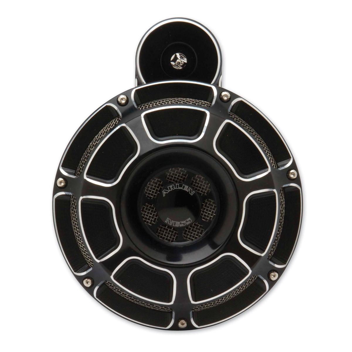 Arlen Ness Beveled Black Horn Kit