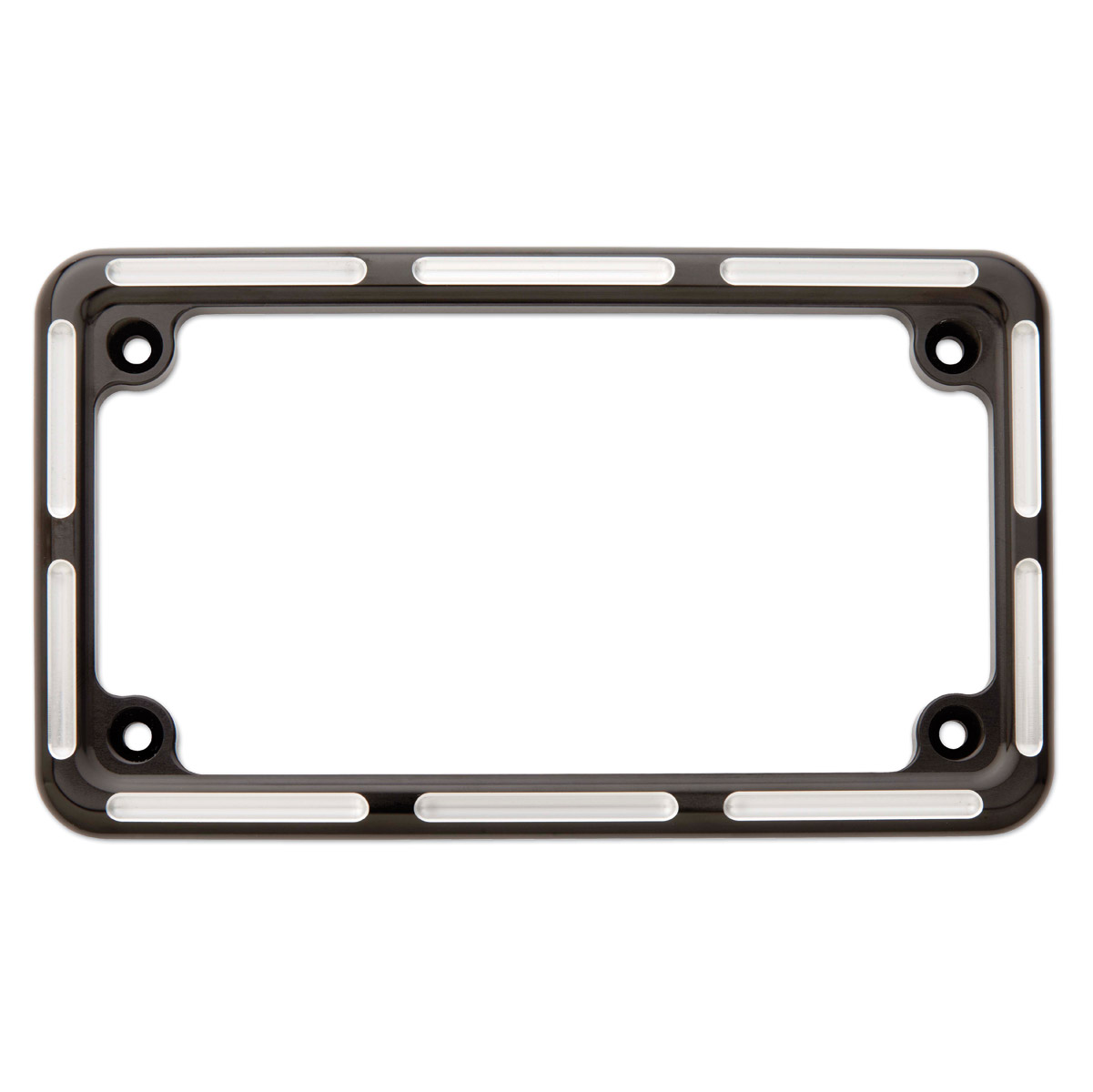 Arlen Ness Slot Track Black License Plate Frame | 138-783 | J&P Cycles