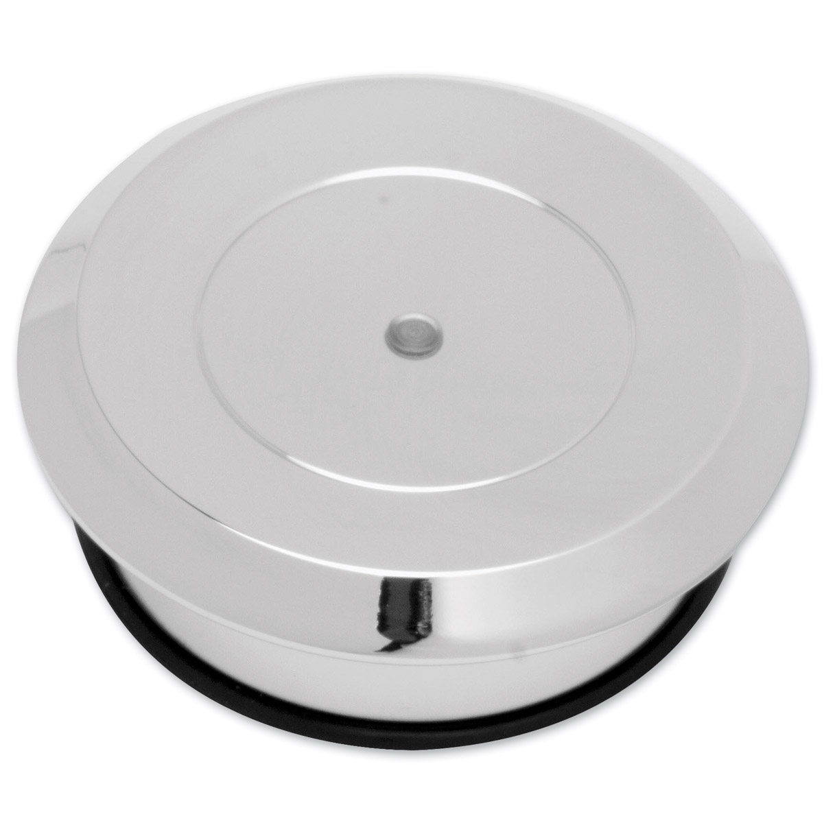 Arlen Ness Chrome Smooth Gas Cap with LED gauge