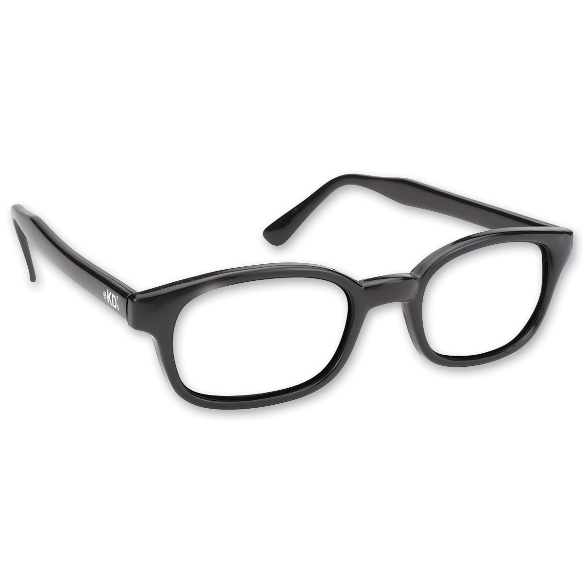 original kds sunglasses black frame with clear lens