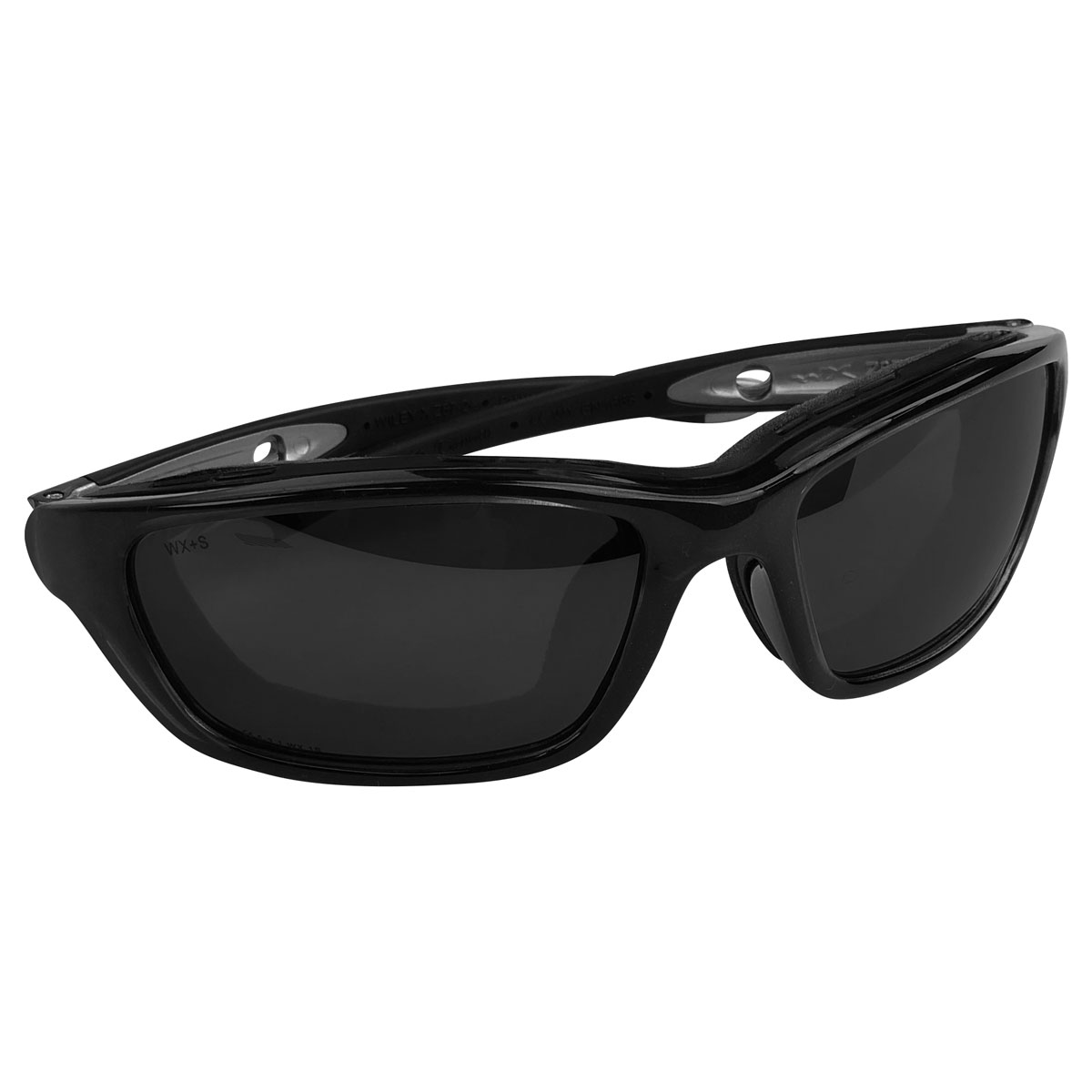 Wiley X Brick Goggles/Sunglasses with Silver Flash Lenses