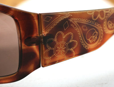 Highway Honeys Vixen Sunglasses - Gold Paisley Design