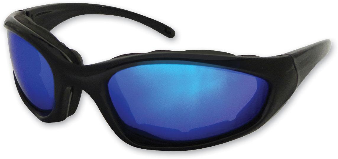 Chap'el C-1 Black Frame/Blue RV Lens Padded Sunglasses