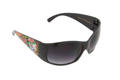 Chap'el Skull & Flowers Tattoo Sunglasses