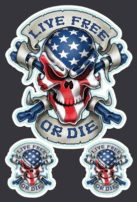 Lethal Threat Live Free or Die Mini Decal