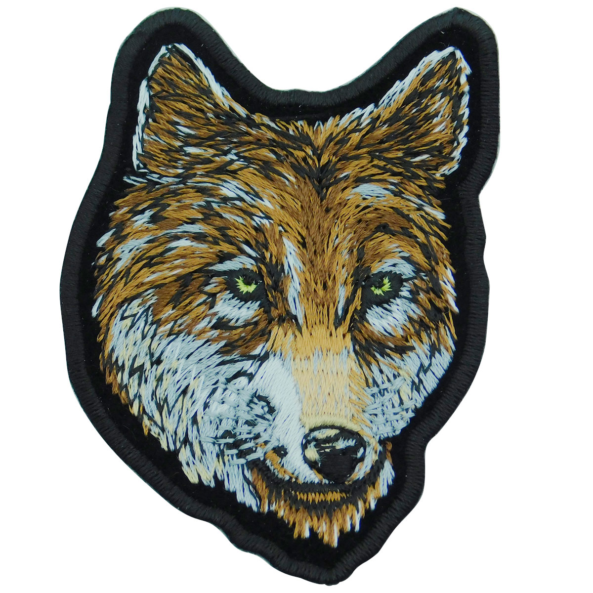 Wolf Head Embroidered Patch