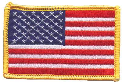 GoodSports American Flag Embroidered Patch