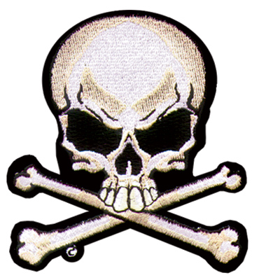 Skull & Crossbones Embroidered Patch