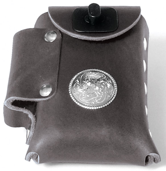 Eagle Leather Leather Cigarette Case With Concho