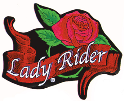 GoodSports Lady Rider Embroidered Patch