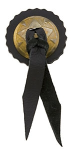 Eagle Leather Brass Concho with Leather Concho & Lace