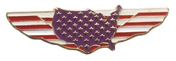 Gunz All American Rider Pin