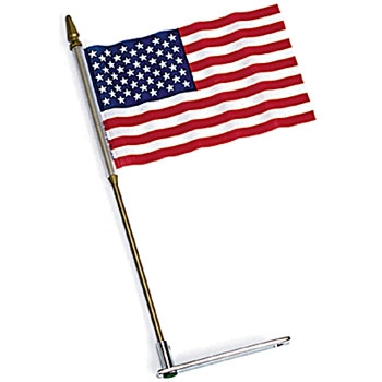 J&P Cycles® USA Flag and Mount