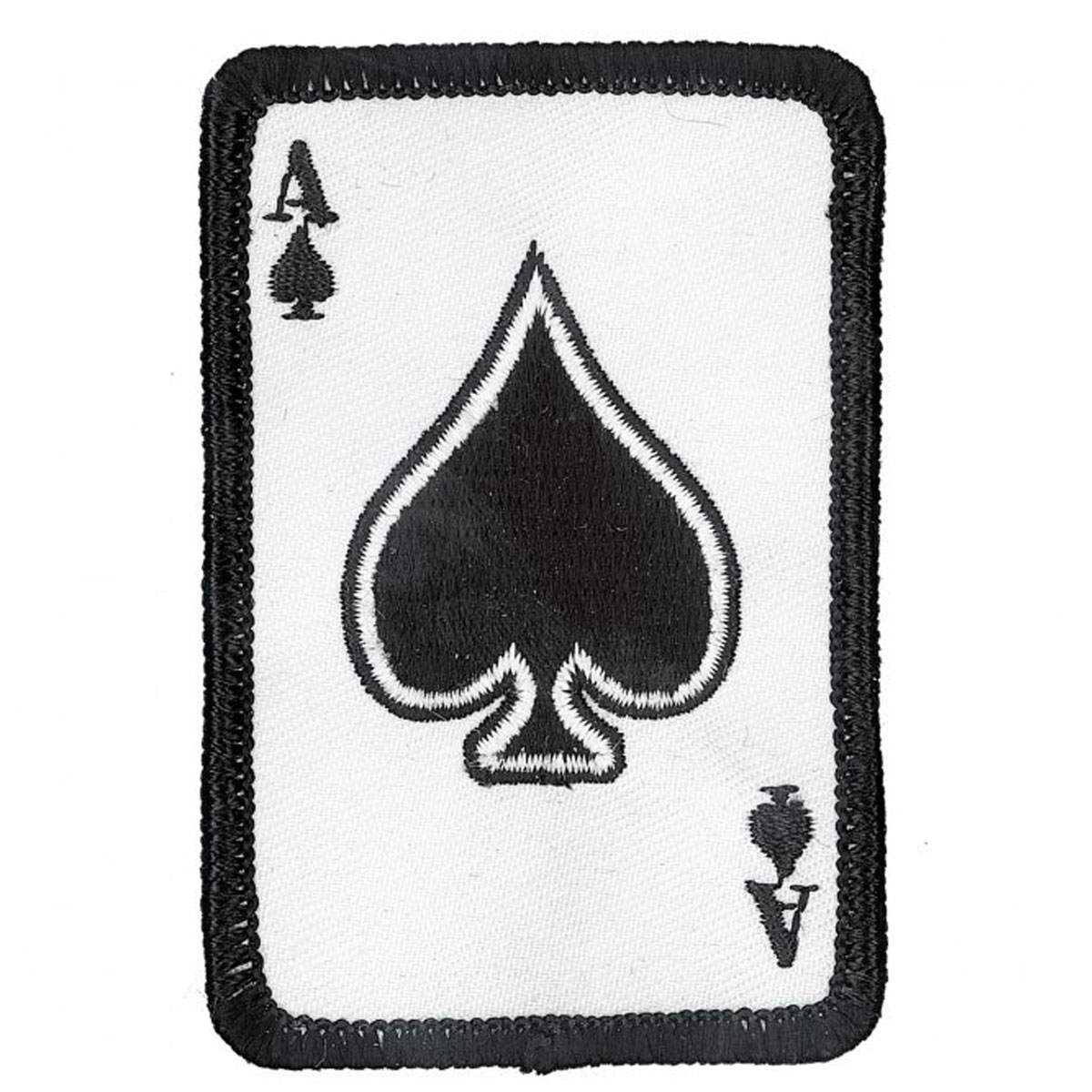 ace of spades embroidered patch 151 165 j p cycles. Black Bedroom Furniture Sets. Home Design Ideas